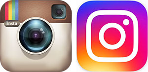 Instagram logo comparison